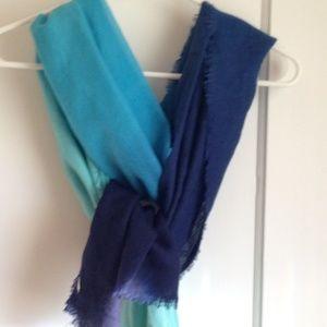 Blue Scarf/ Wrap -Teal Blue, Light Blue, Dark Blue